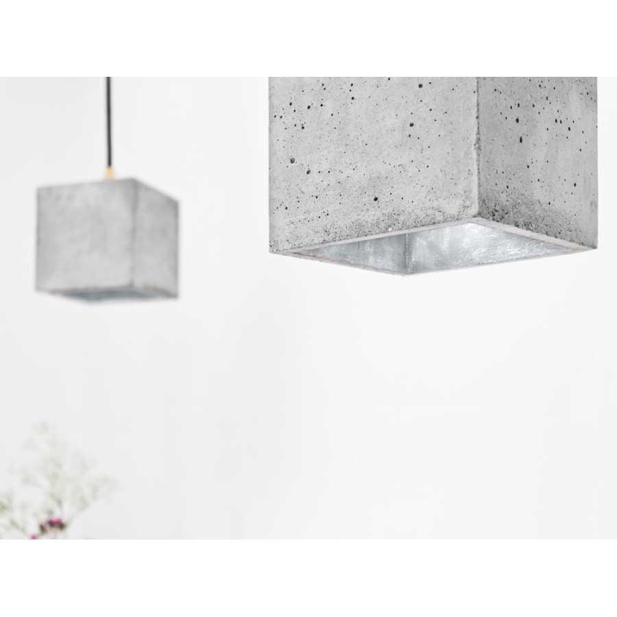 GANT Lights B1 Light Grey Concrete Pendant Light - Silver