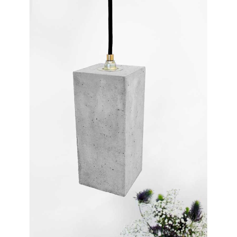 GANT Lights B2 Light Grey Concrete Pendant Light