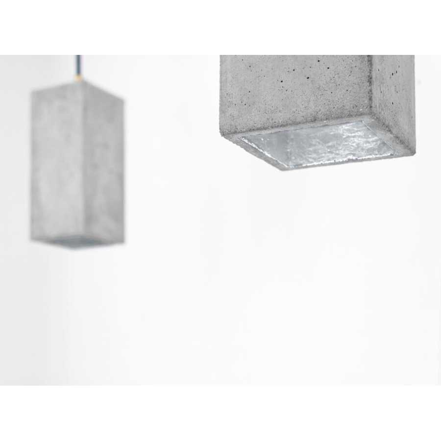 GANT Lights B2 Light Grey Concrete Pendant Light - Silver