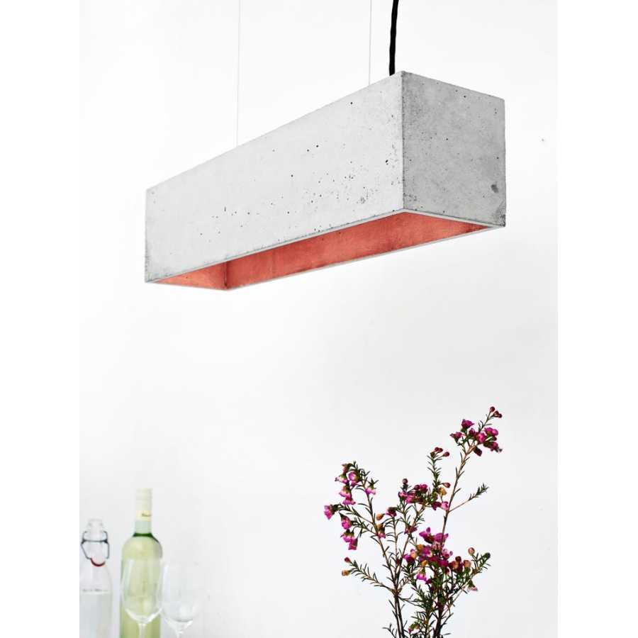 GANT Lights B4 Light Grey Concrete Pendant Light - Copper