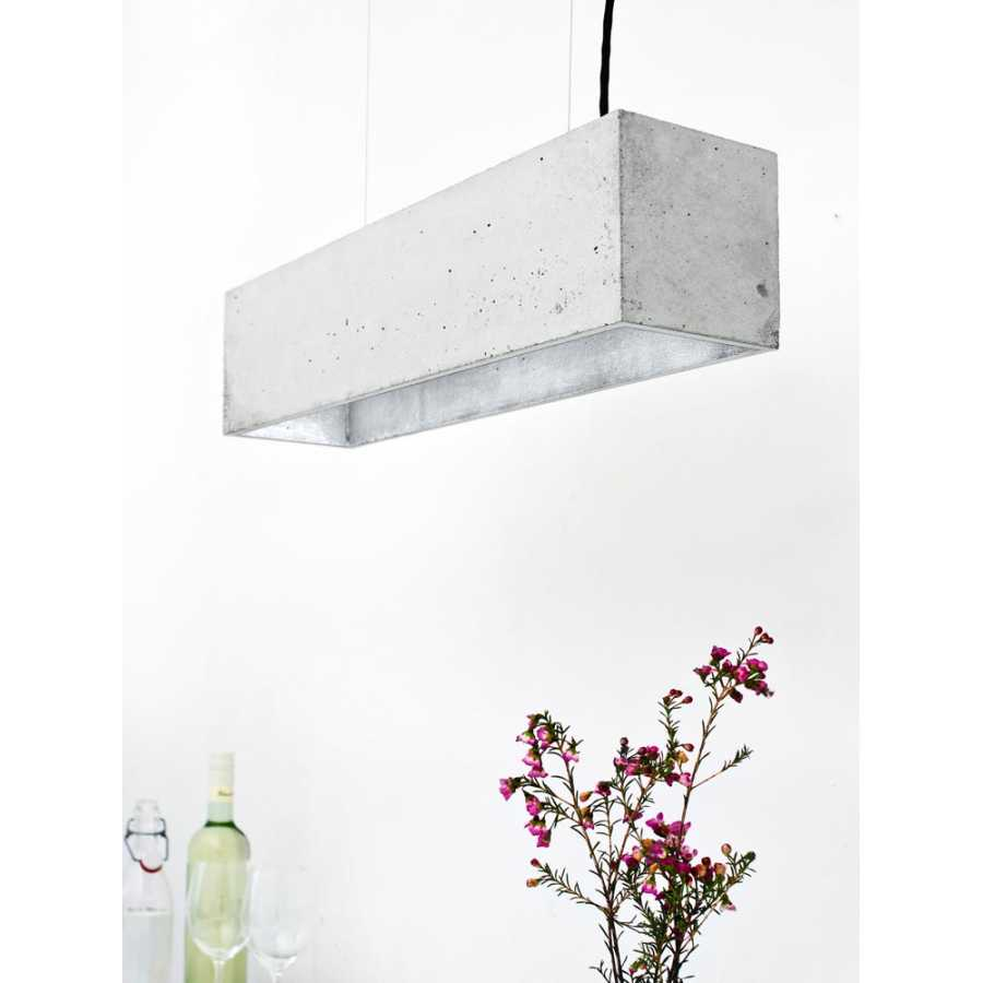 GANT Lights B4 Light Grey Concrete Pendant Light - Silver