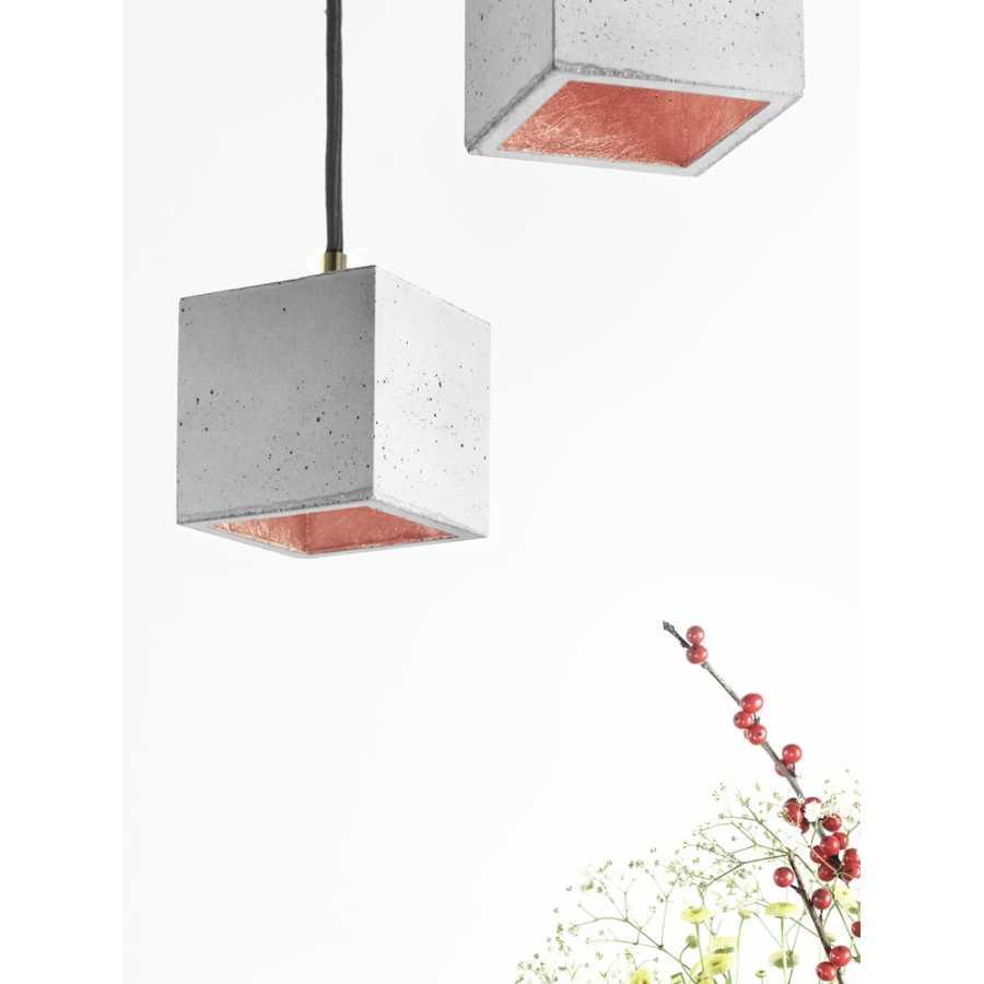 GANT Lights B6 Light Grey Concrete Pendant Light - Copper