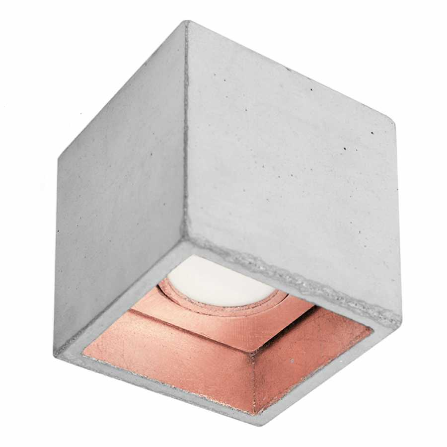 GANT Lights B7 Light Grey Concrete Spot Light - Copper
