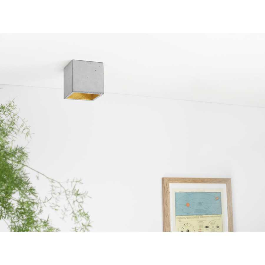 GANT Lights B7 Light Grey Concrete Spot Light - Gold