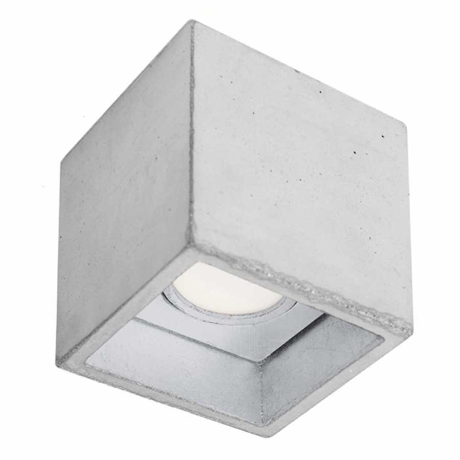 GANT Lights B7 Light Grey Concrete Spot Light - Silver