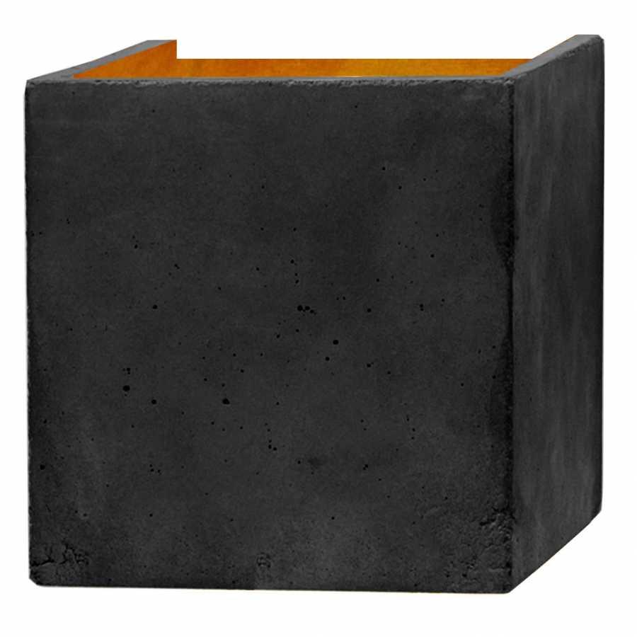 GANT Lights B3 Dark Grey Concrete Wall Light - Gold