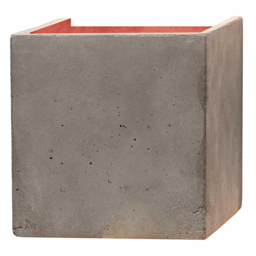 GANT Lights B3 Light Grey Concrete Wall Light - Copper