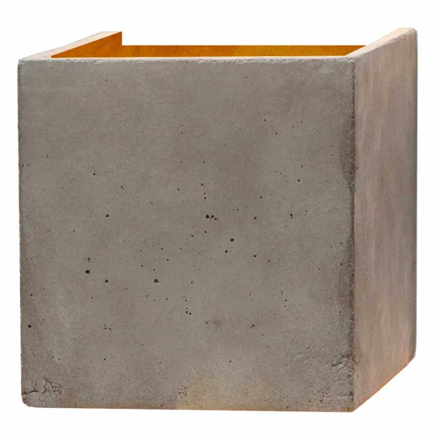 GANT Lights B3 Light Grey Concrete Wall Light - Gold