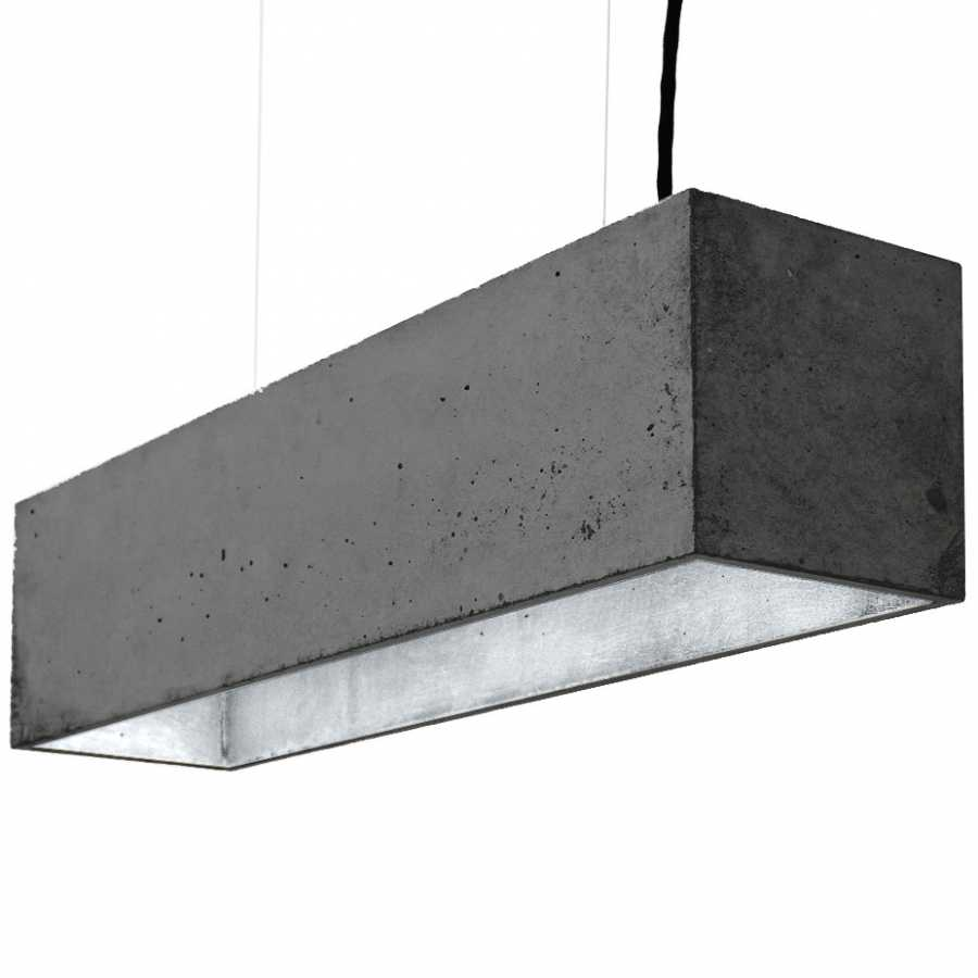 GANT Lights B4 Dark Grey Concrete Pendant Light - Silver
