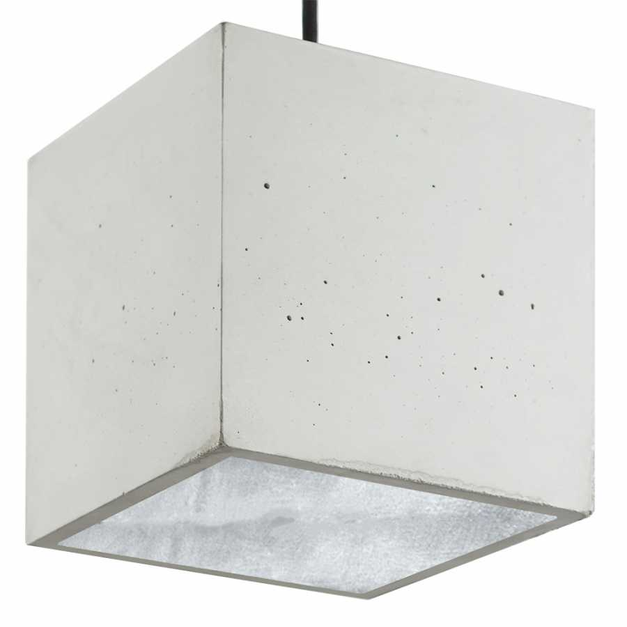 GANT Lights B5 Light Grey Concrete Pendant Light - Silver