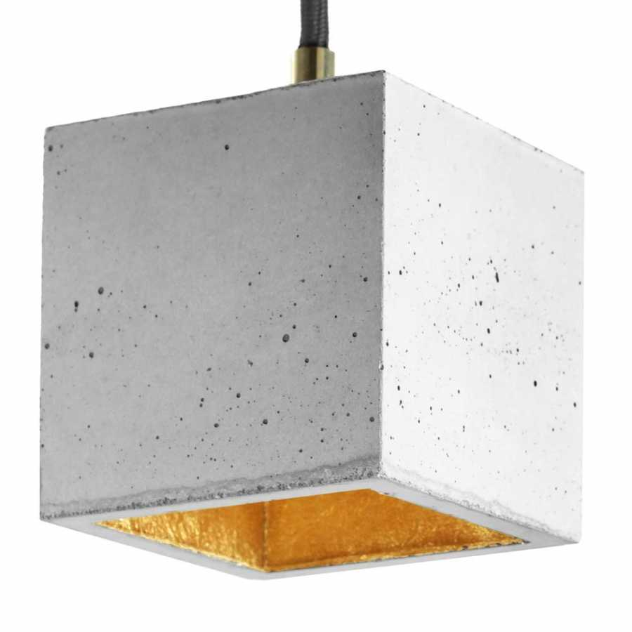 GANT Lights B6 Light Grey Concrete Pendant Light - Gold