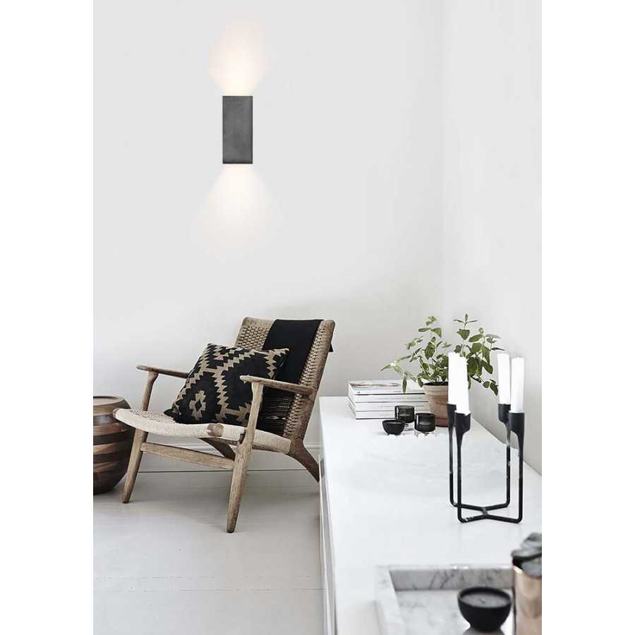 GANT Lights B8 Dark Grey Concrete Wall Light - Silver
