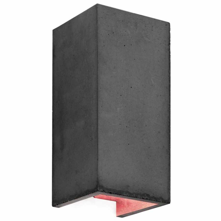 GANT Lights B8 Dark Grey Concrete Wall Light - Copper