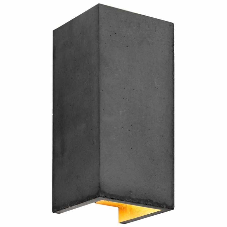 GANT Lights B8 Dark Grey Concrete Wall Light - Gold