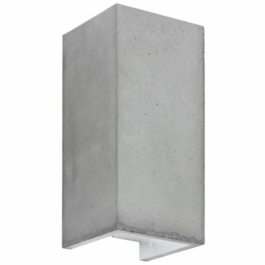 GANT Lights B8 Light Grey Concrete Wall Light - Silver