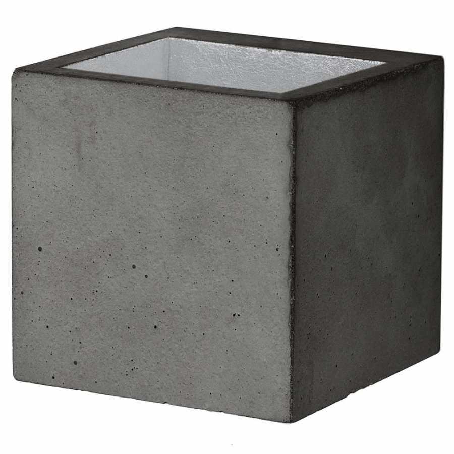 GANT Lights B9 Dark Grey Concrete Wall Light - Silver