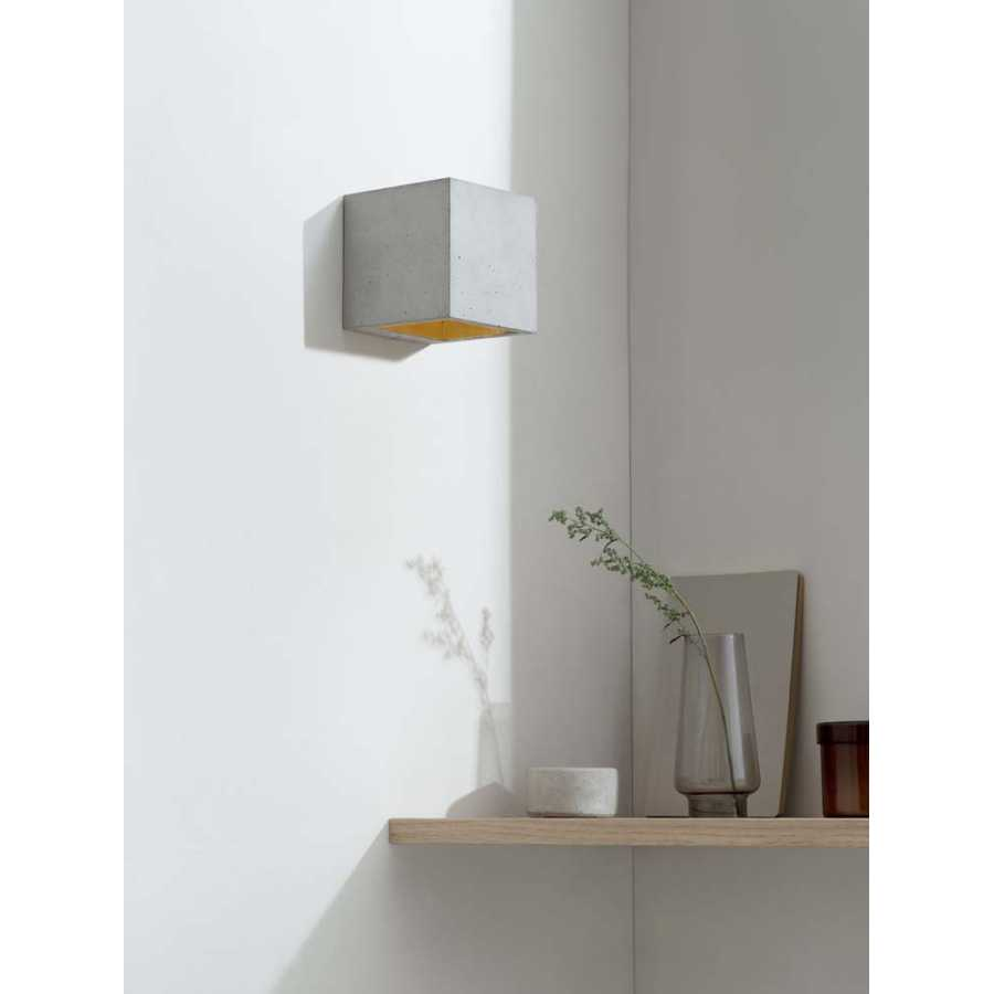 GANT Lights B9 Light Grey Concrete Wall Light - Gold