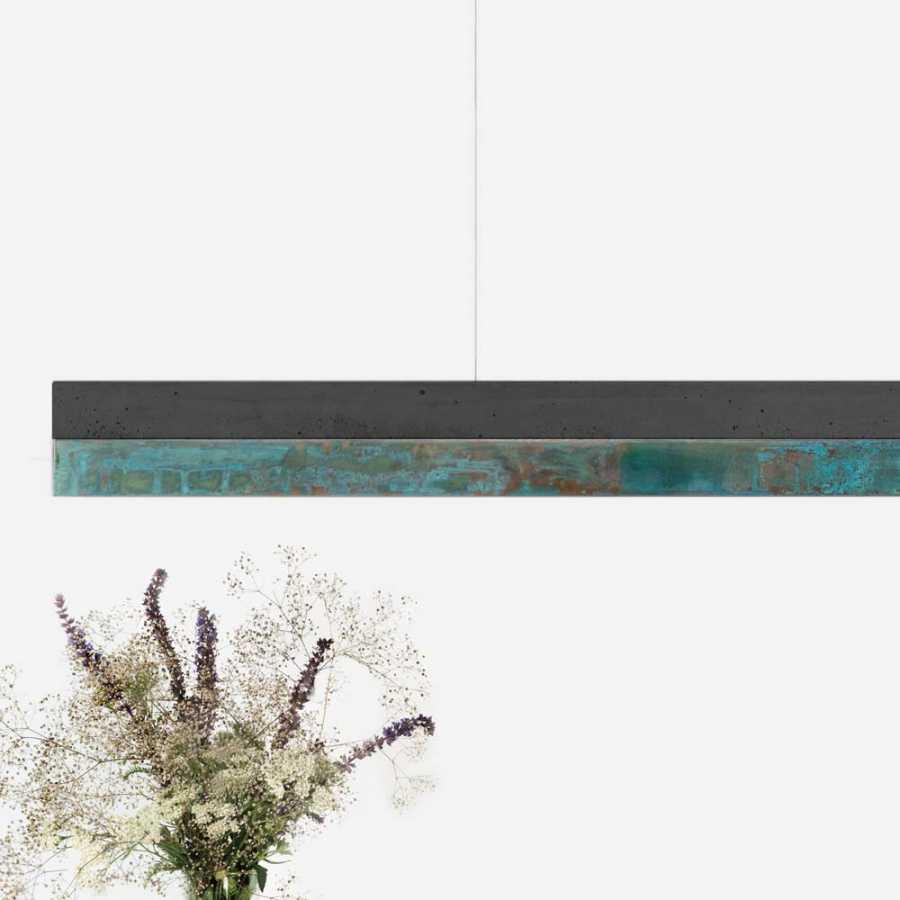 GANT Lights C1 Dark Grey Concrete Pendant Light - Oxi