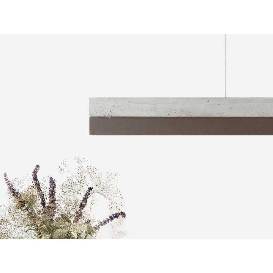 GANT Lights C1 Light Grey Concrete Pendant Light - Corten Steel