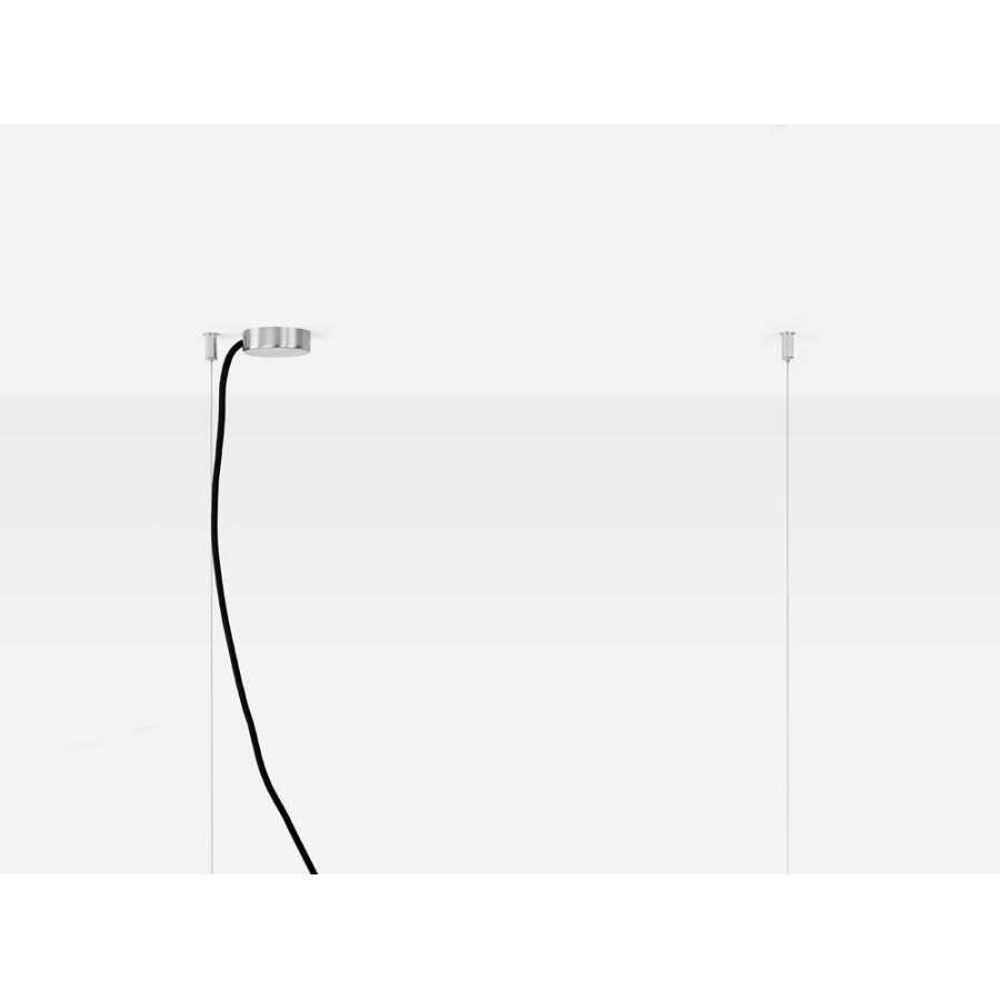 GANT Lights C2 Light Grey Concrete Pendant Light - Stainless Steel