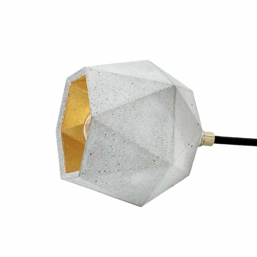 GANT Lights T2 Light Grey Concrete Spot Floor Lamp - Gold