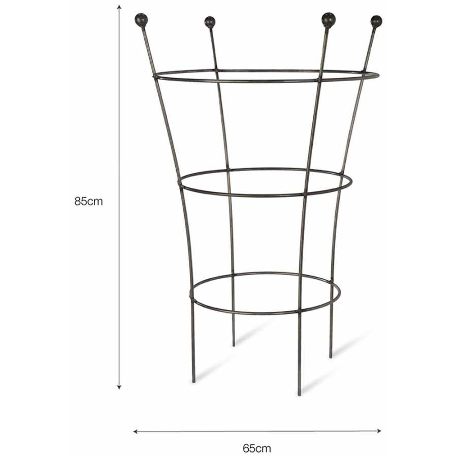 Garden Trading Barrington Flared Plant Support - Large - Diagram