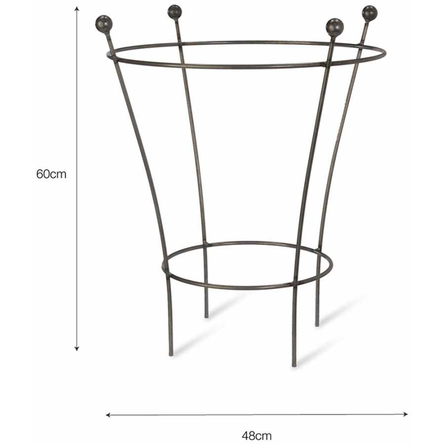 Garden Trading Barrington Flared Plant Support - Small - Diagram
