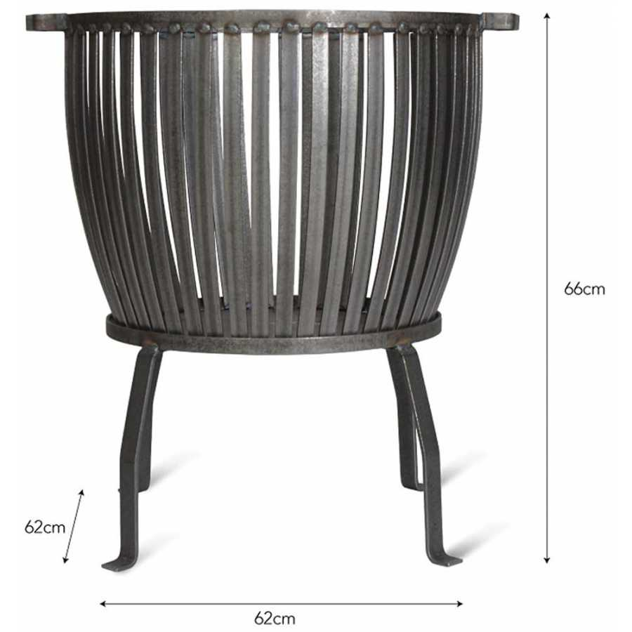 Garden Trading Barrington Fire Pit - Large - Diagram