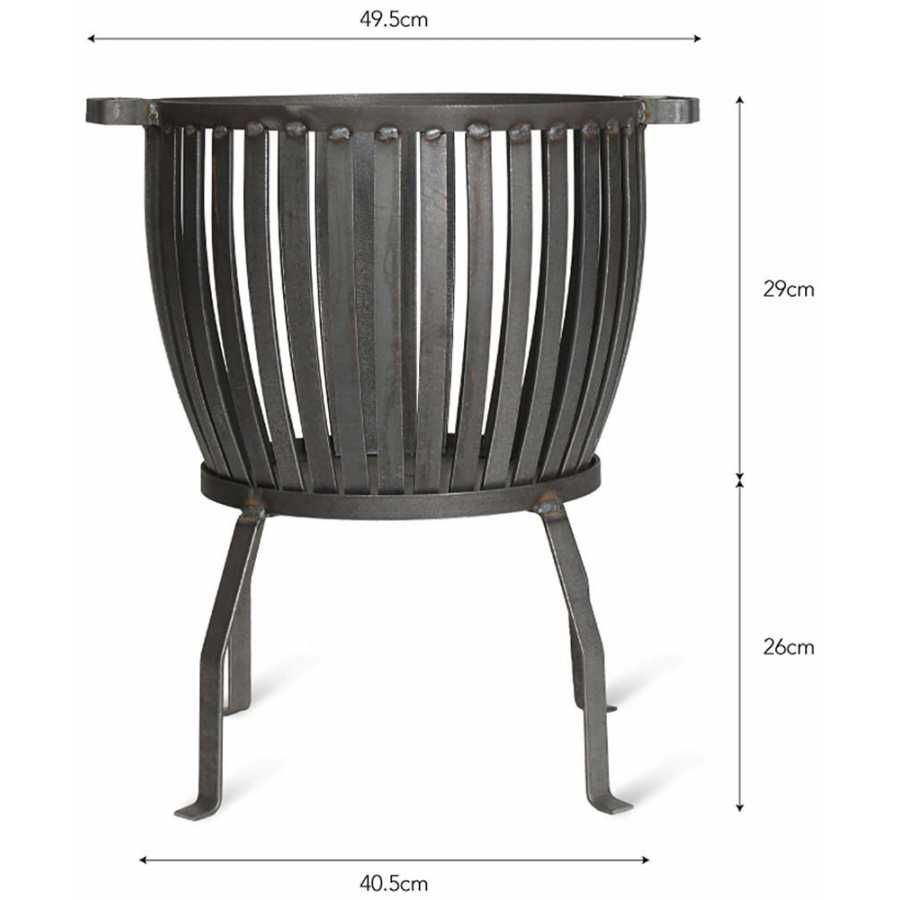 Garden Trading Barrington Fire Pit - Small - Diagram