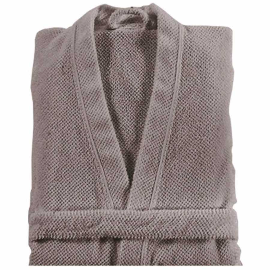 Graccioza Bee Waffle Bath Robe - Stone