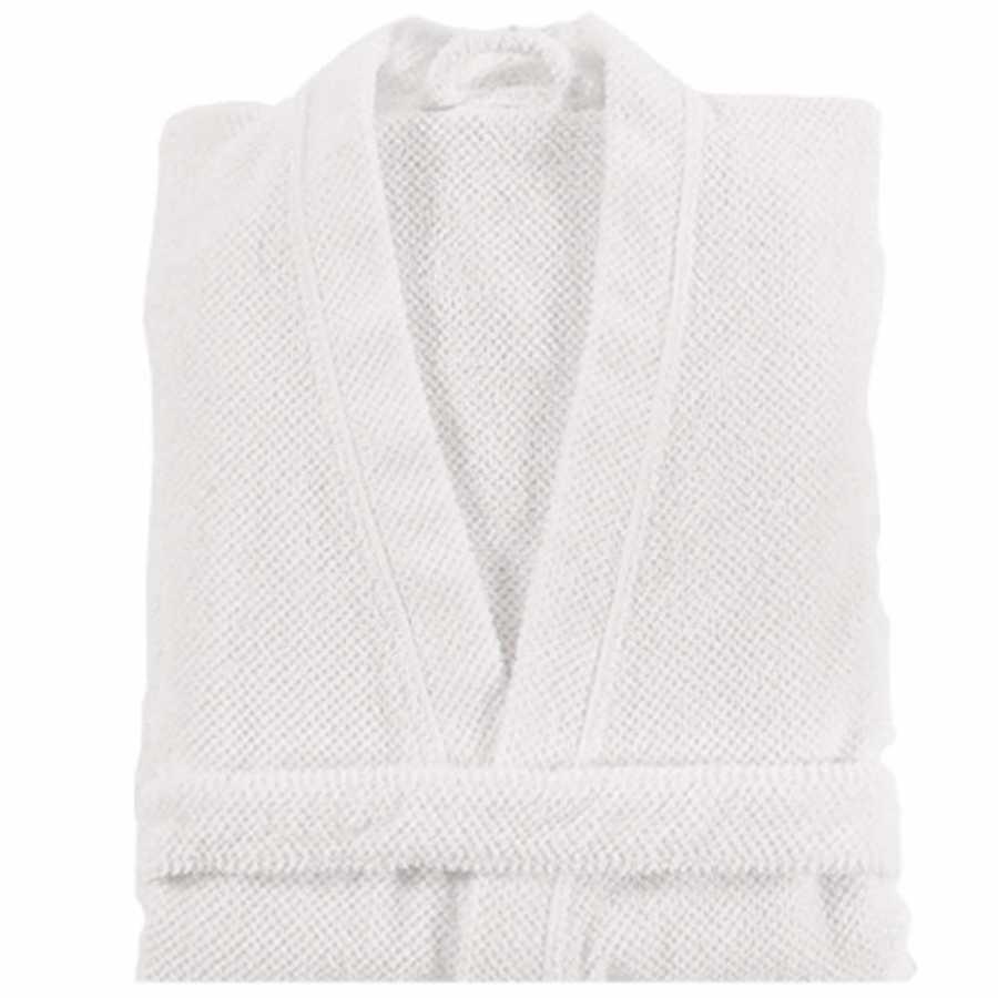 Graccioza Bee Waffle Bath Robe - White