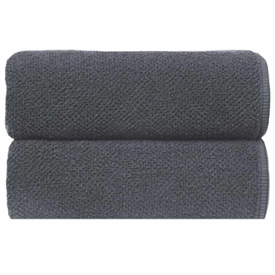 Graccioza Bee Waffle Towels - Dark Anthracite