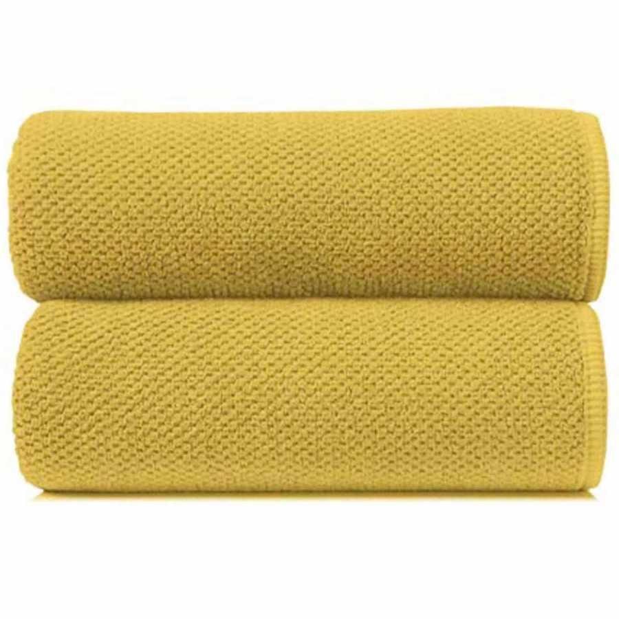 Graccioza Bee Waffle Towels - Mustard