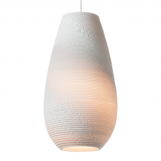 Graypants Scraplights Drop White Pendant Light