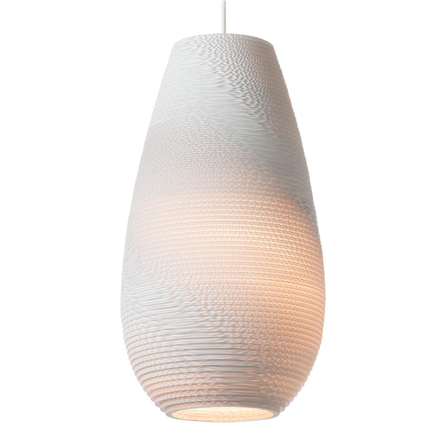 Graypants Drop White Scraplight Pendant Light