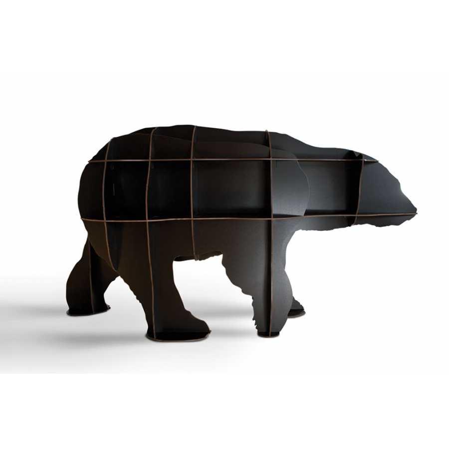 ibride Junior Polar Bear Bookcase - Black