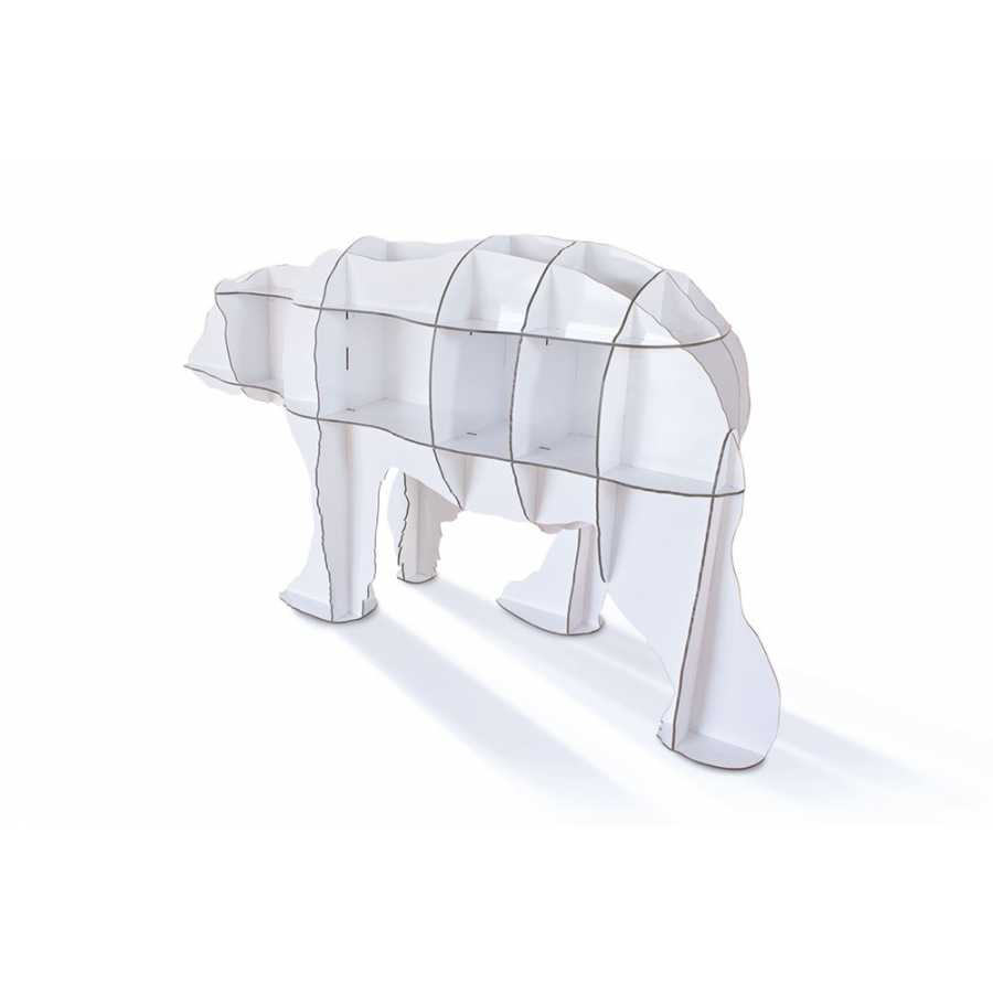 ibride Junior Polar Bear Bookcase - White