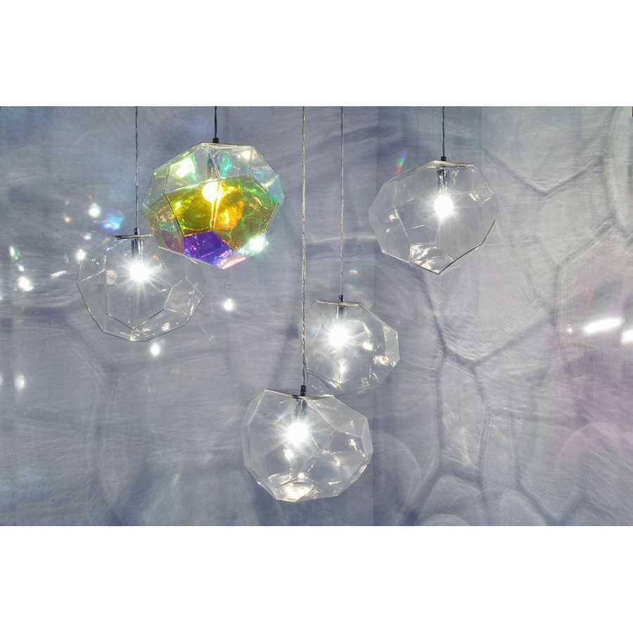 Innermost Asteroid Pendant Light - Petrol & Clear