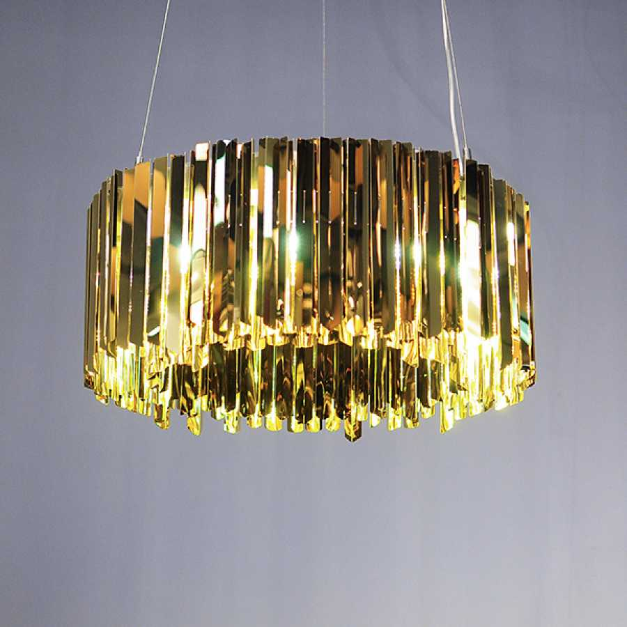 Innermost Facet Pendant Lights by Tom Kirk - Polished Brass