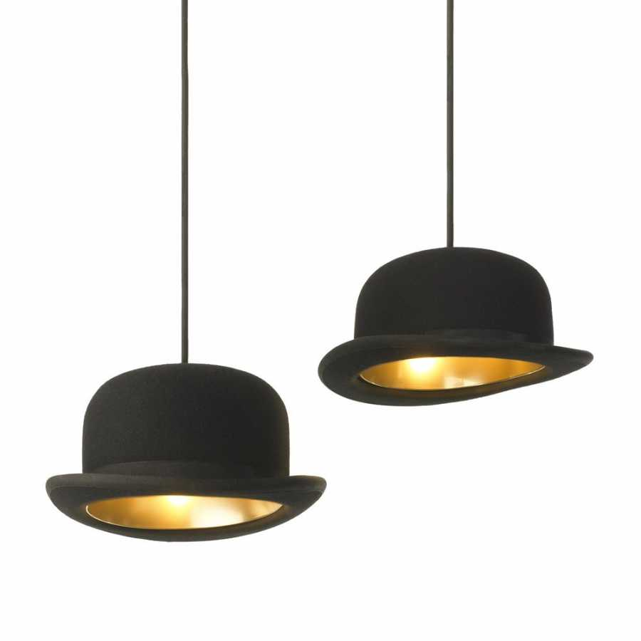 Innermost Jeeves Bowler Hat Pendant Lights by Jake Phipps