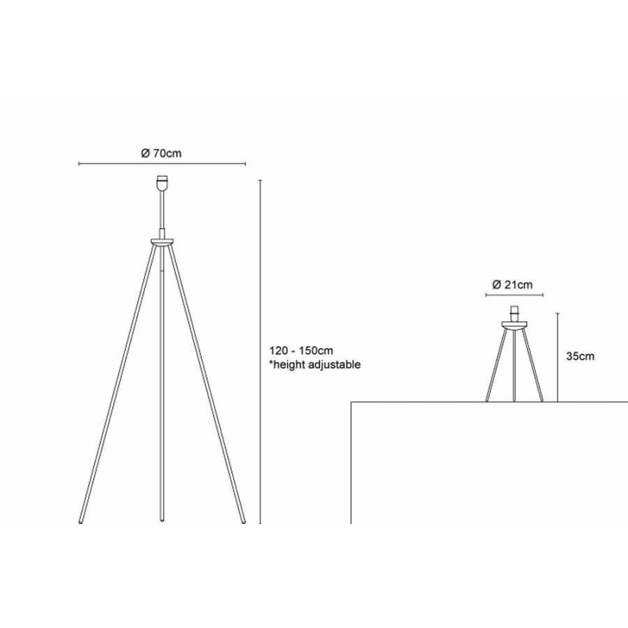 Innermost Tripod Lamp Base