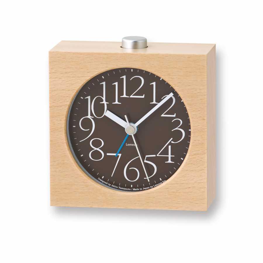 Lemnos AY Alarm Clock - Brown