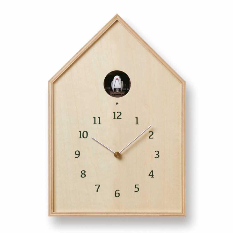 Lemnos Birdhouse Clock - Natural