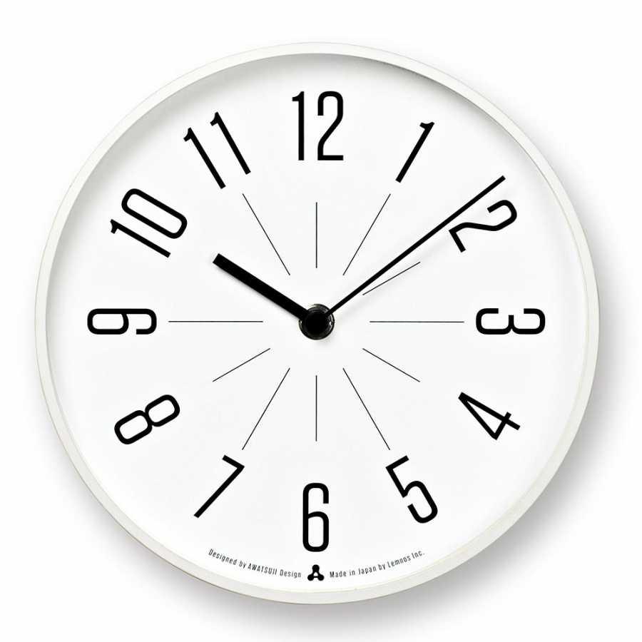 Lemnos Awa Jiji Clocks - White Frame