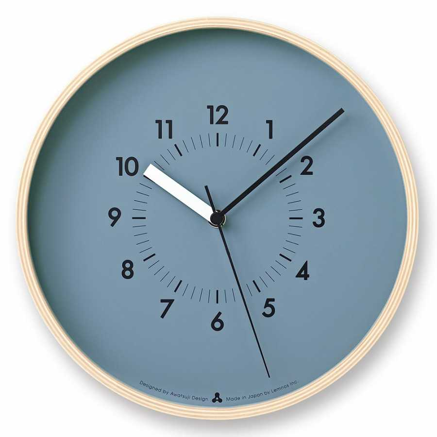 Lemnos Awa Soso Clock - Blue