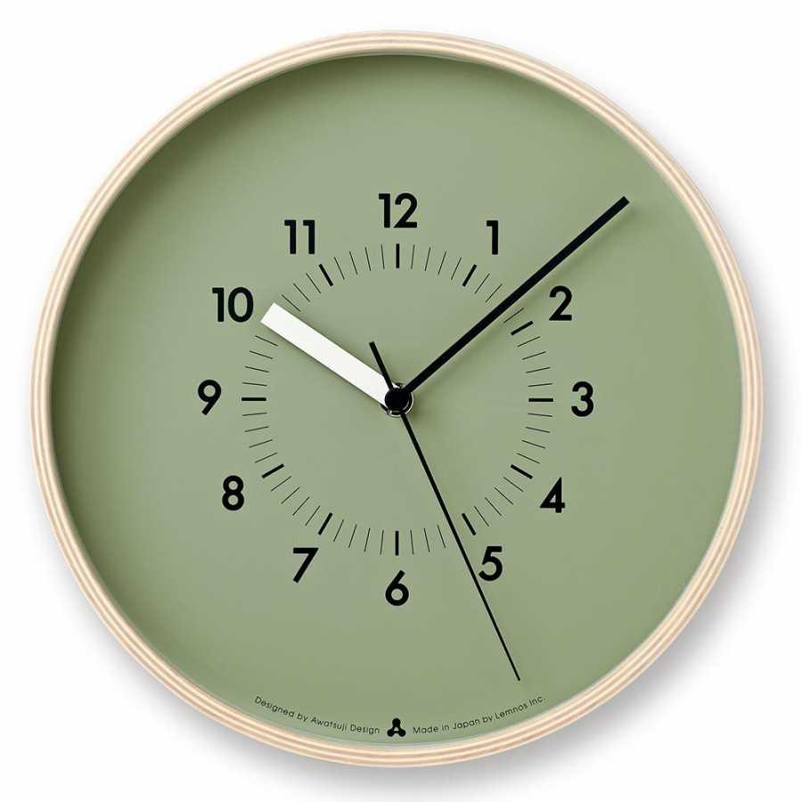 Lemnos Awa Soso Clock - Green