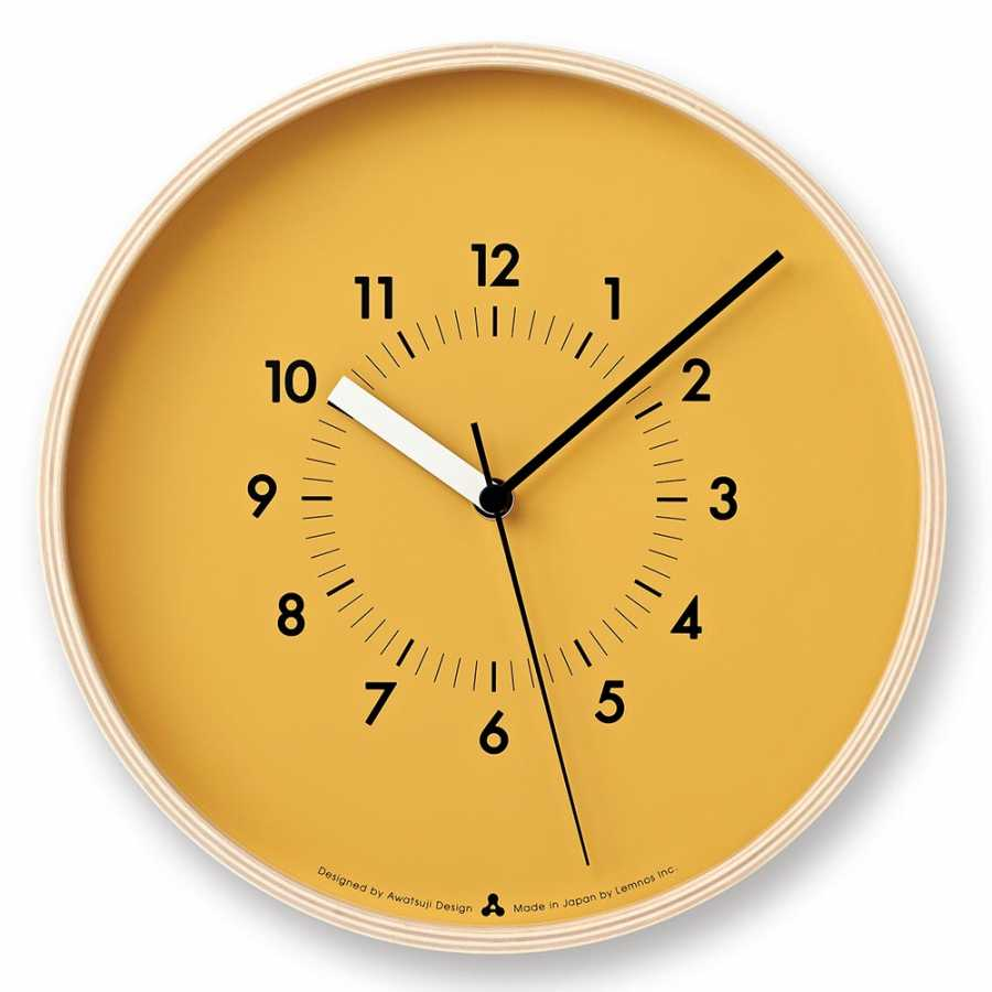 Lemnos Awa Soso Clock - Orange