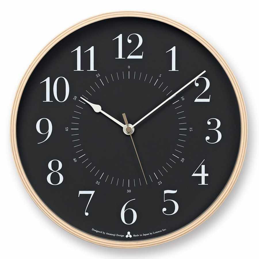 Lemnos Awa Toki Clocks - Black