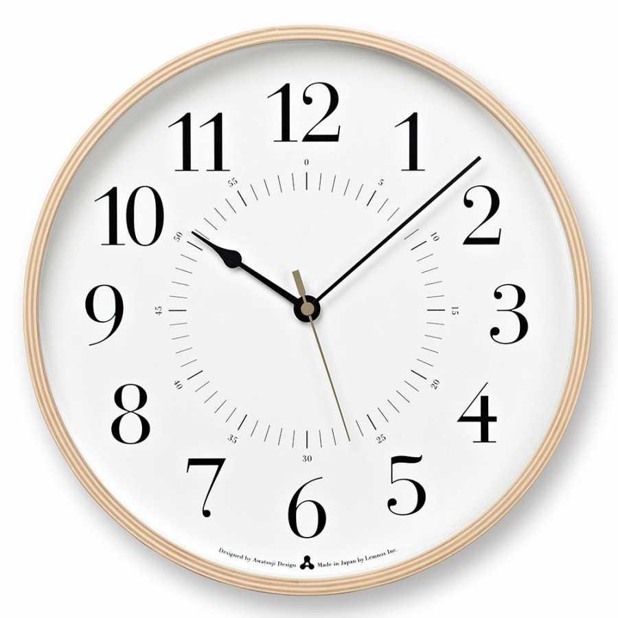 Lemnos Awa Toki Clocks - White