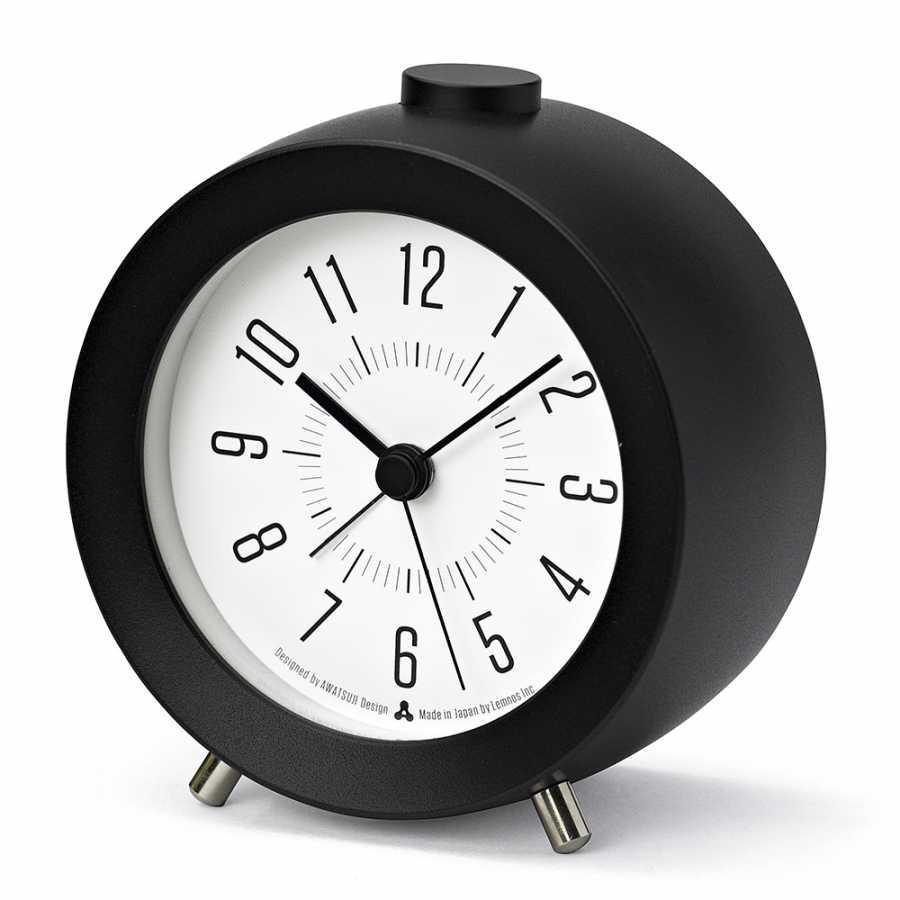 Lemnos Awa Jiji Alarm Clocks - Black